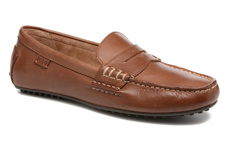 Loafers Polo Ralph Lauren Wes Brun detaljerad bild på paret