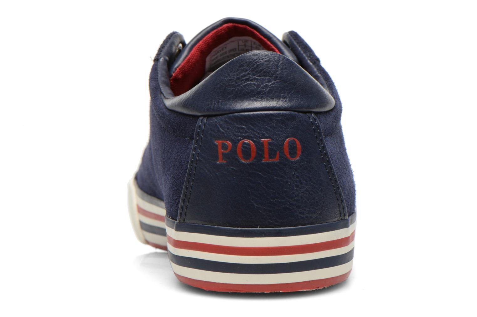 Baskets Polo Ralph Lauren Harvey Bleu vue droite