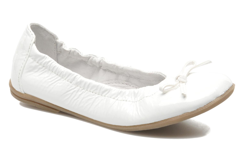 Ballerinaer Ramdam by GBB LISBONNE Hvid detaljeret billede af skoene