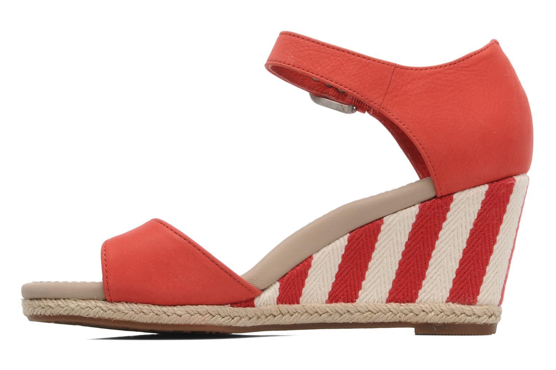 Sandalen UGG Atasha Stripe rot ansicht von vorne