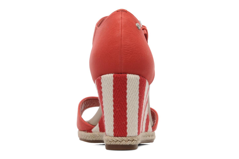 Sandalen UGG Atasha Stripe rot ansicht von rechts