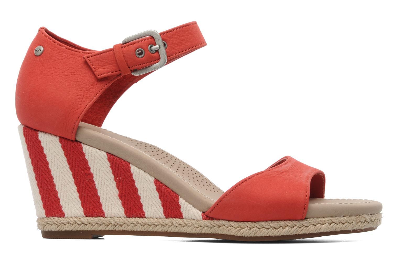 Sandalen UGG Atasha Stripe rot ansicht von hinten
