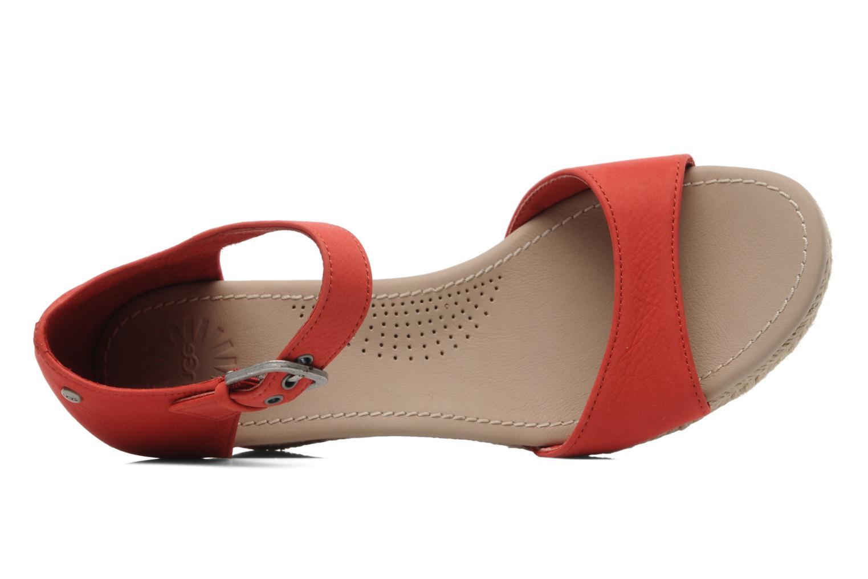 Sandalen UGG Atasha Stripe rot ansicht von links