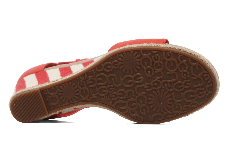 Sandalen UGG Atasha Stripe rot ansicht von oben