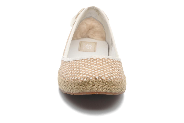 Ballerines UGG Indah Burlap Blanc vue portées chaussures