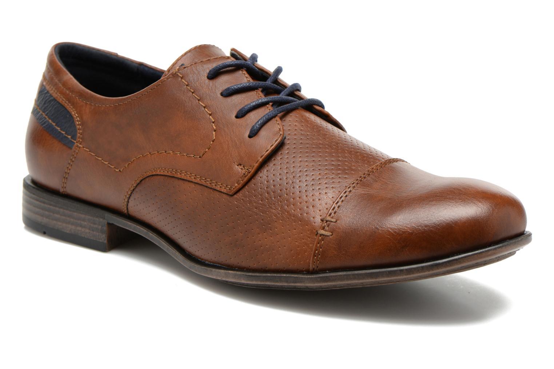 Veterschoenen I Love Shoes Suréponds Bruin detail