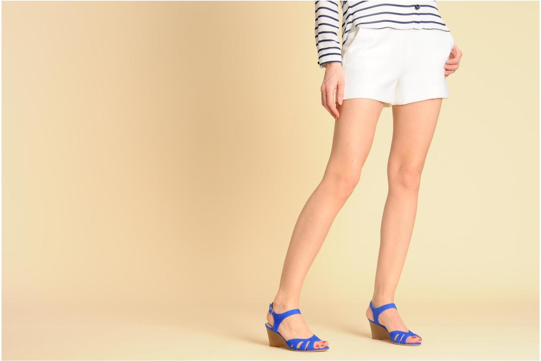 Sandales et nu-pieds Georgia Rose Lollo Noir vue bas / vue portée sac
