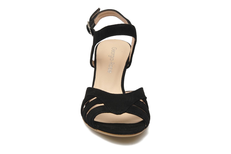 Sandales et nu-pieds Georgia Rose Lollo Noir vue portées chaussures