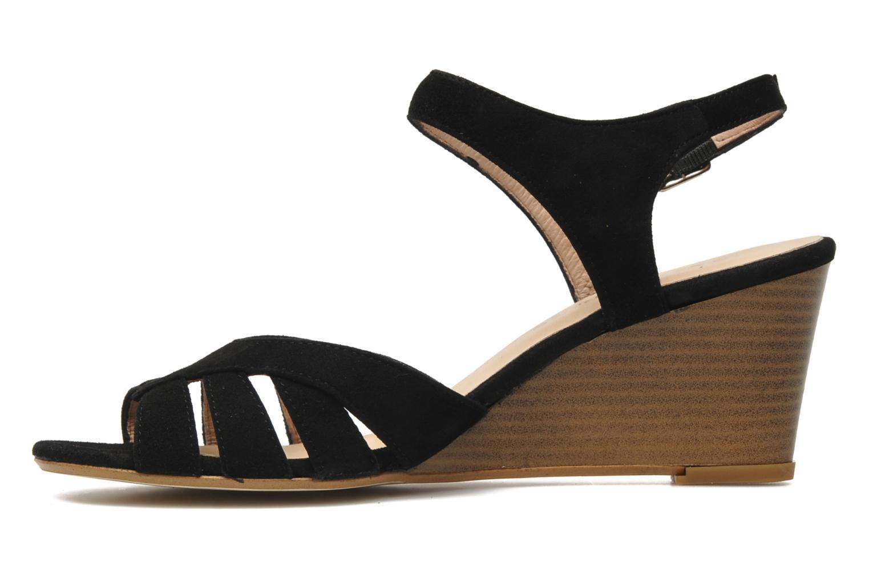 Sandales et nu-pieds Georgia Rose Lollo Noir vue face