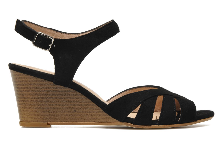 Sandales et nu-pieds Georgia Rose Lollo Noir vue derrière