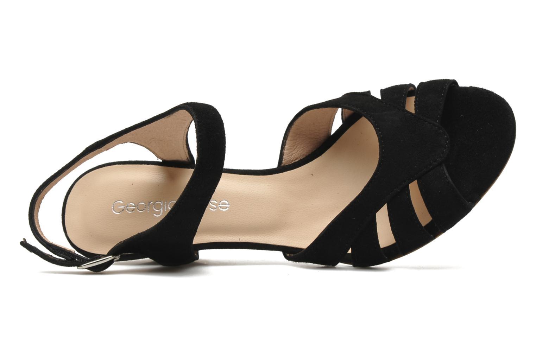 Sandales et nu-pieds Georgia Rose Lollo Noir vue gauche