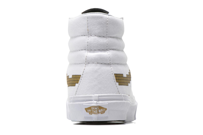Baskets Vans Sk8-Hi Slim W Blanc vue droite