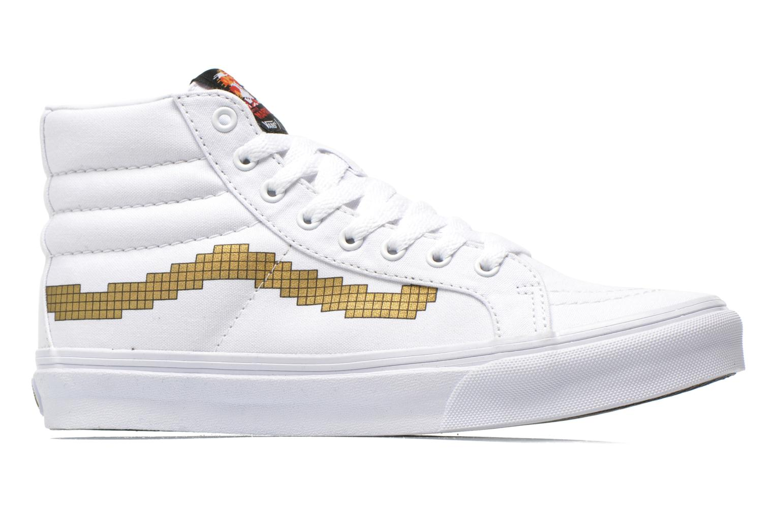 Trainers Vans Sk8-Hi Slim W White back view