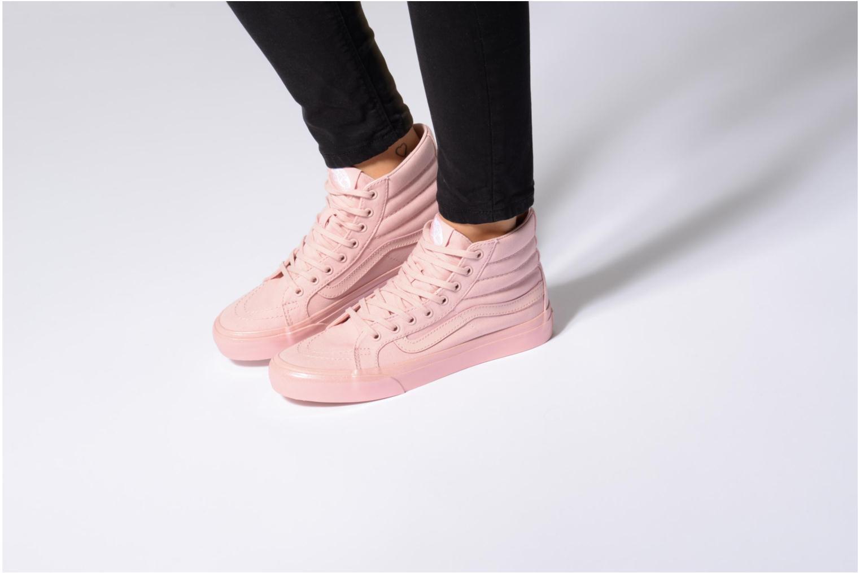 Sneaker Vans Sk8-Hi Slim W beige ansicht von unten / tasche getragen