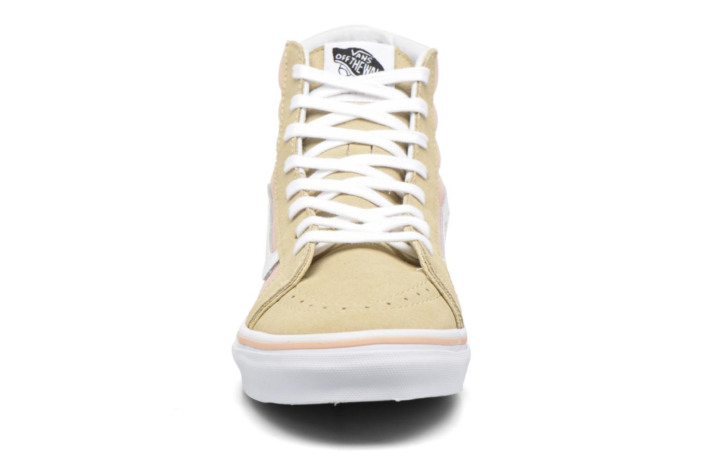 Sneaker Vans Sk8-Hi Slim W beige schuhe getragen