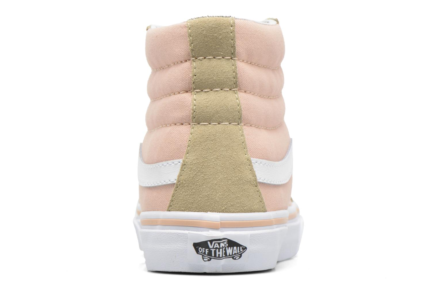Trainers Vans Sk8-Hi Slim W Beige view from the right