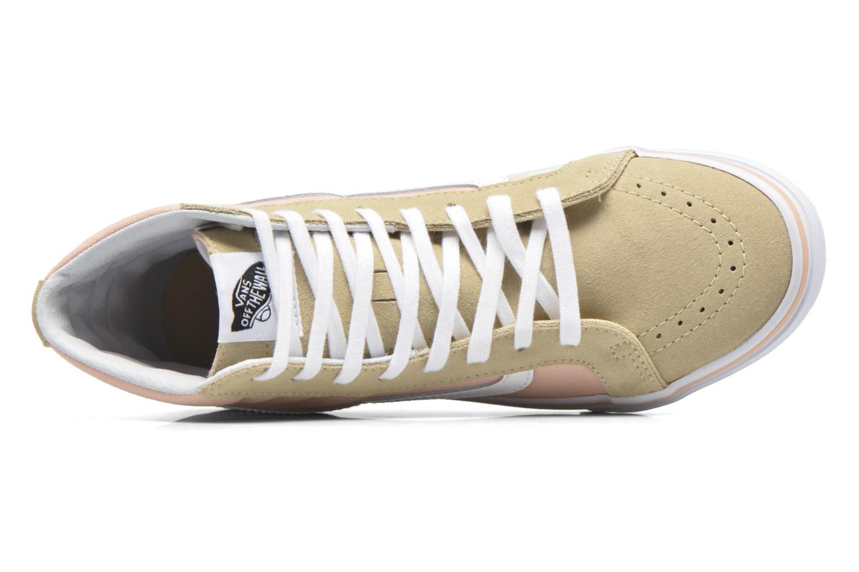 Sneaker Vans Sk8-Hi Slim W beige ansicht von links