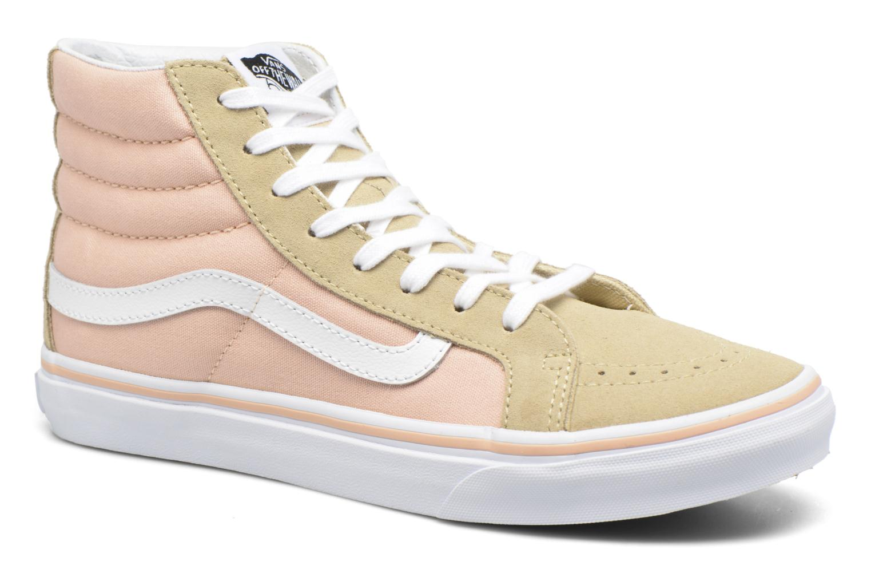 Baskets Vans Sk8-Hi Slim W Beige vue détail/paire