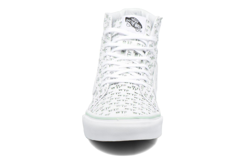 Sneaker Vans Sk8-Hi Slim W weiß schuhe getragen