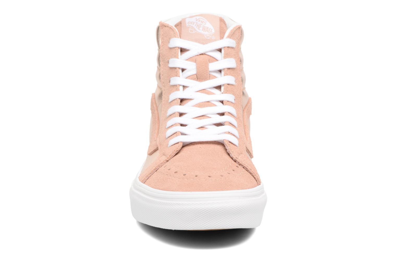 Baskets Vans Sk8-Hi Reissue W Rose vue portées chaussures