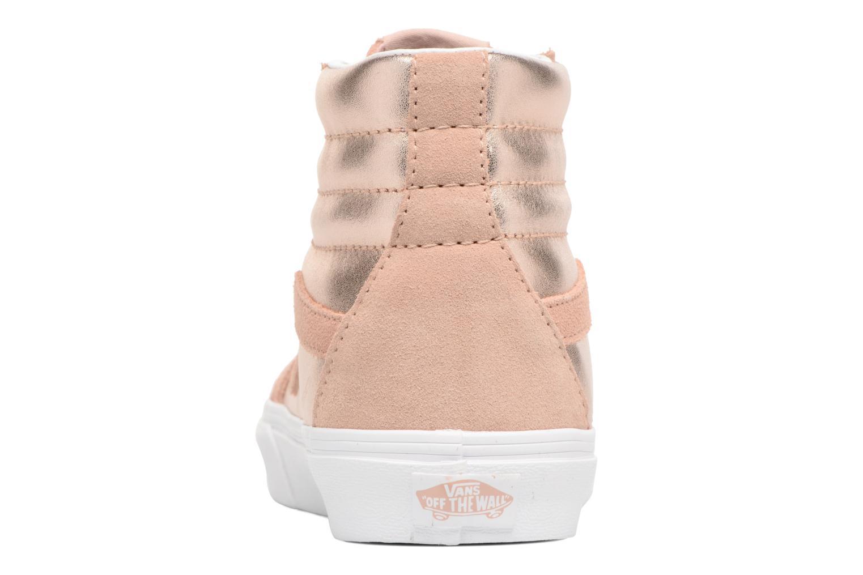Sneakers Vans Sk8-Hi Reissue W Roze rechts