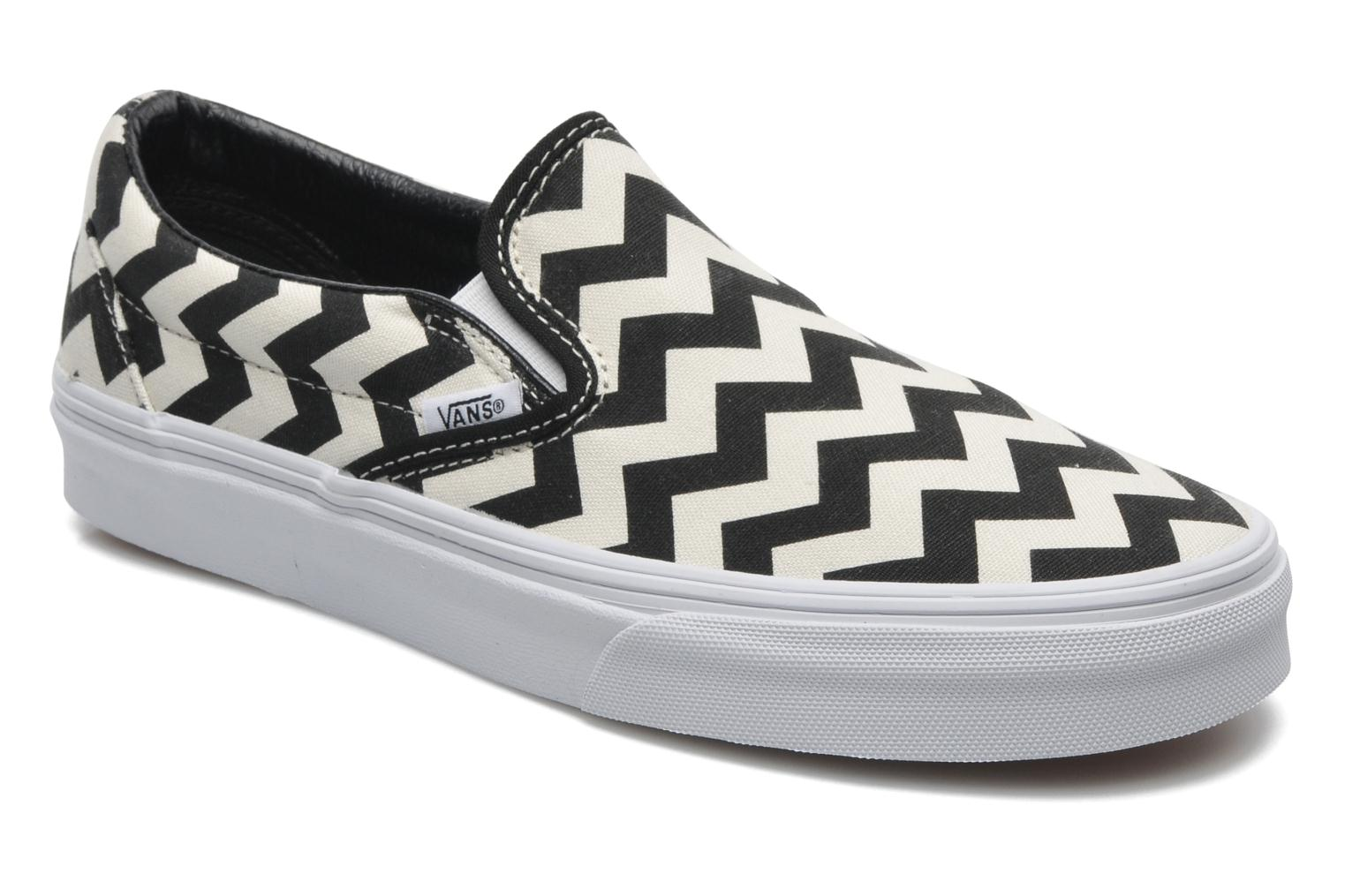 Classic Slip-On W (Chevron) Black/True White