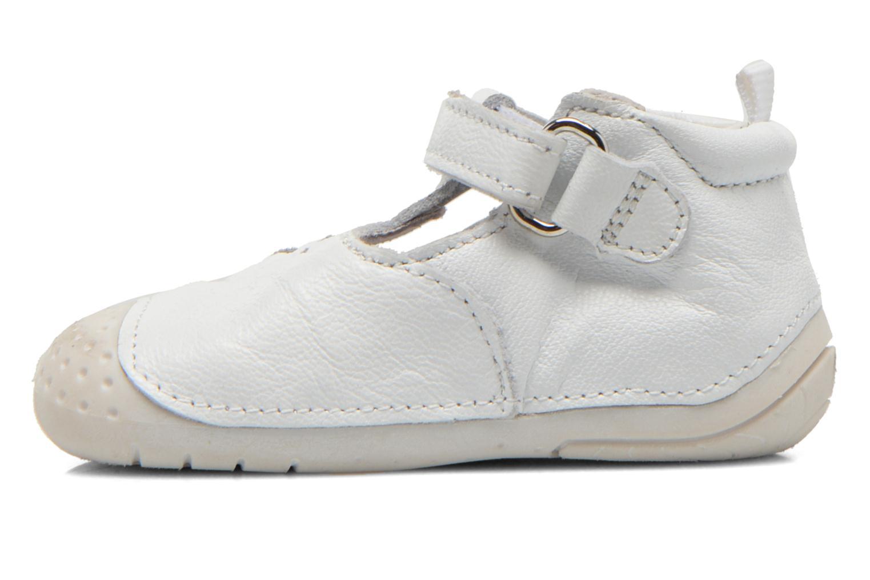 Chaussures à scratch Babybotte ZOUBI Blanc vue face