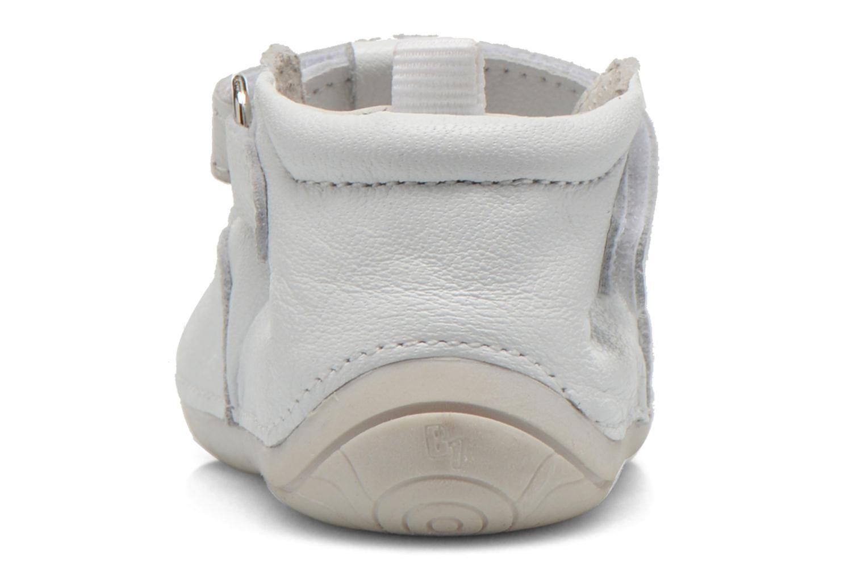 Chaussures à scratch Babybotte ZOUBI Blanc vue droite