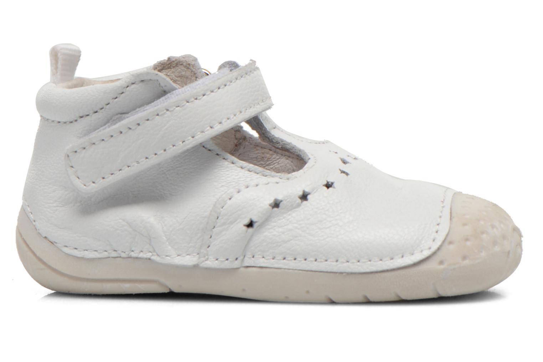 Chaussures à scratch Babybotte ZOUBI Blanc vue derrière