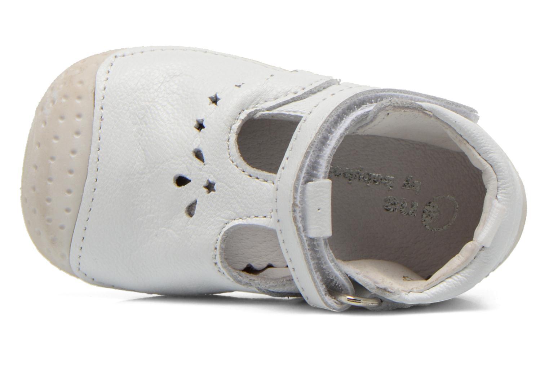 Chaussures à scratch Babybotte ZOUBI Blanc vue gauche