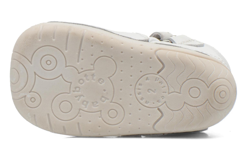 Chaussures à scratch Babybotte ZOUBI Blanc vue haut