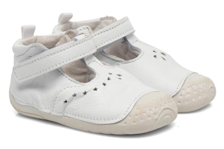 Chaussures à scratch Babybotte ZOUBI Blanc vue détail/paire