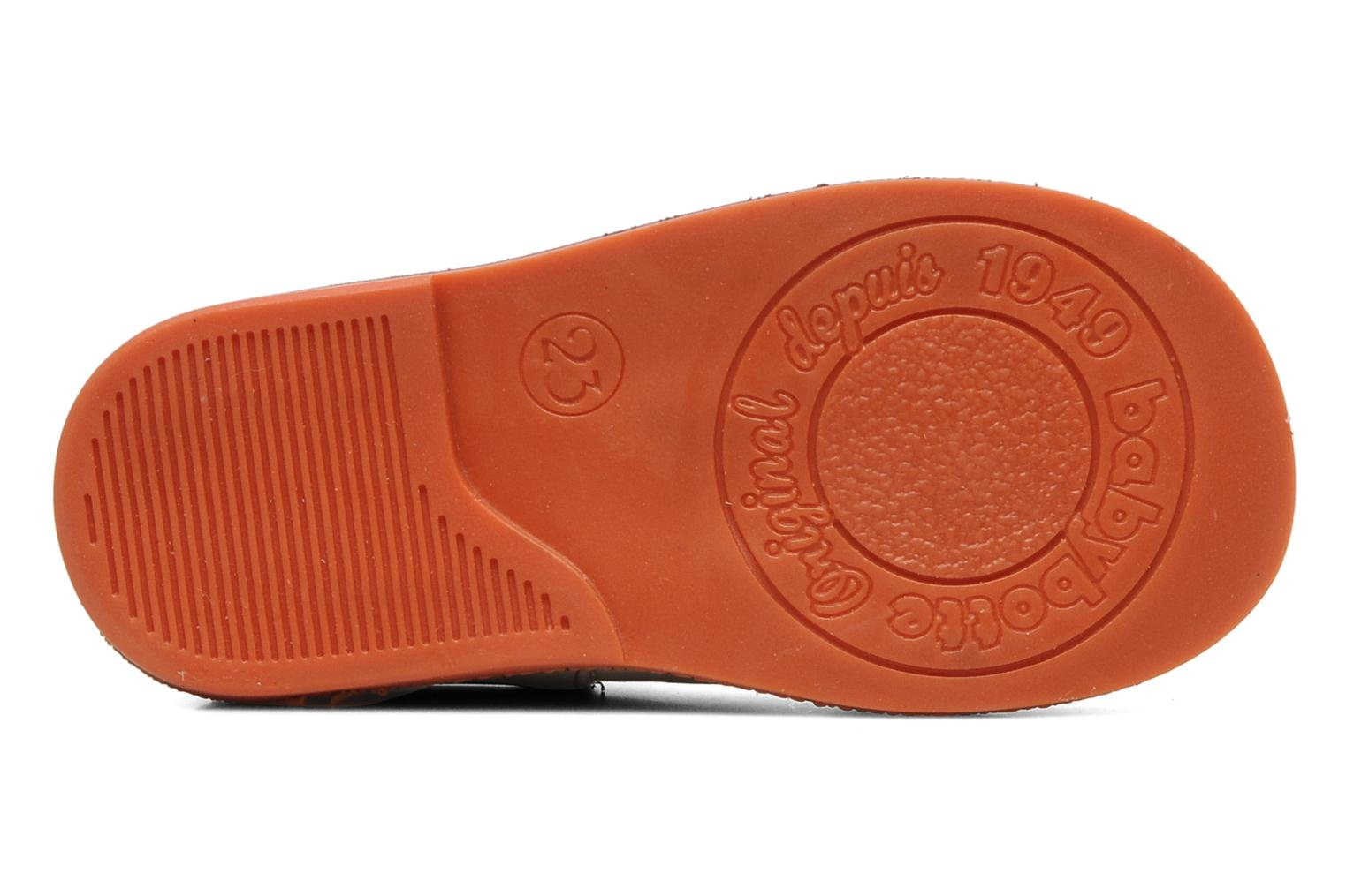 SANDJI CUIR / ECRU - ORANGE