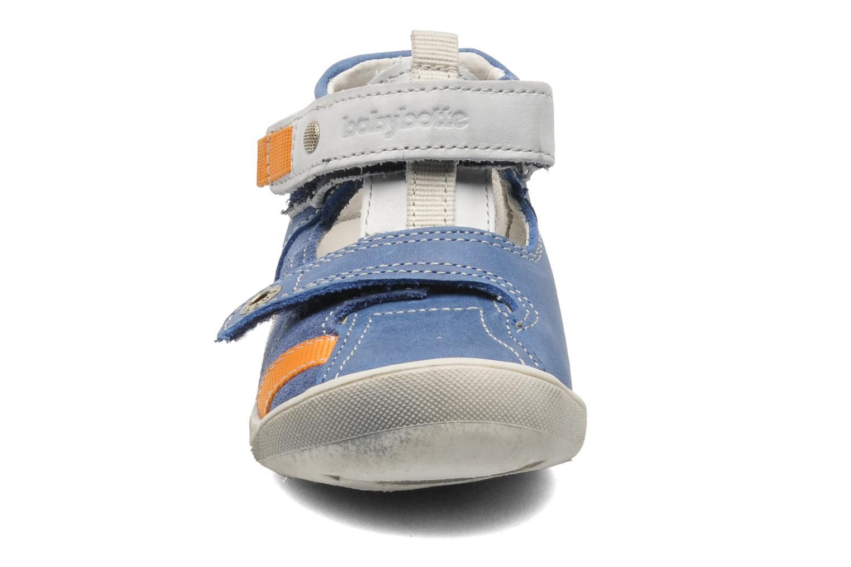mit Klettverschluss Babybotte STYLI blau schuhe getragen