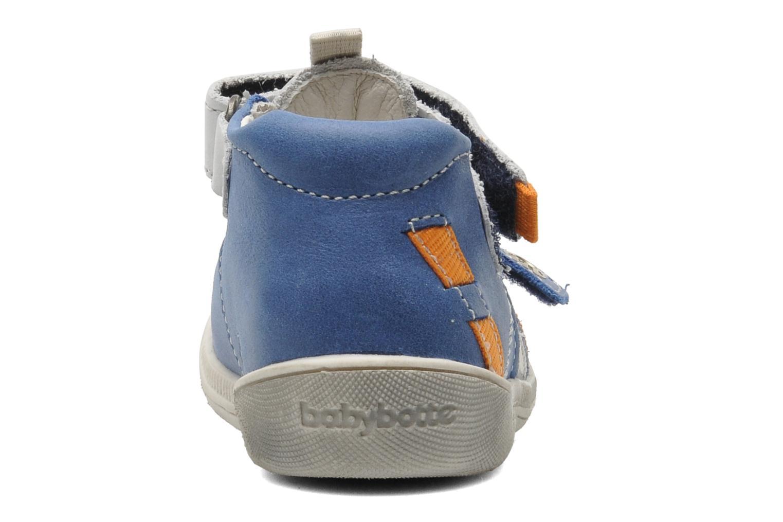 mit Klettverschluss Babybotte STYLI blau ansicht von rechts