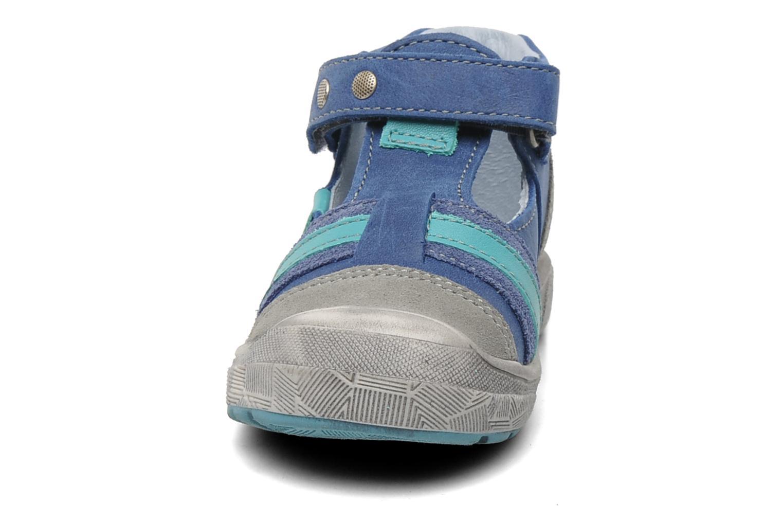Chaussures à scratch Babybotte SAWY Bleu vue portées chaussures