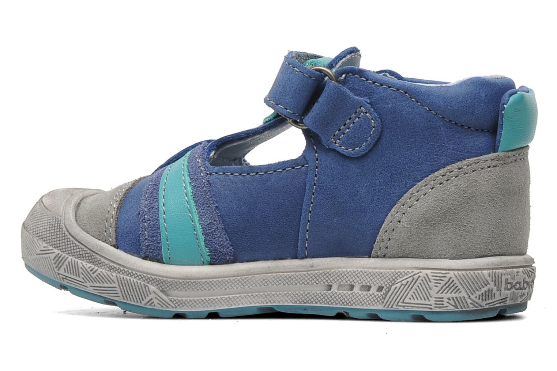 Chaussures à scratch Babybotte SAWY Bleu vue face