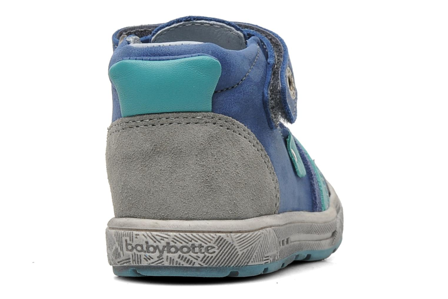 Velcro shoes Babybotte SAWY Blue view from the right