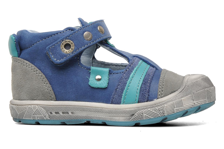 Skor med kardborrband Babybotte SAWY Blå bild från baksidan