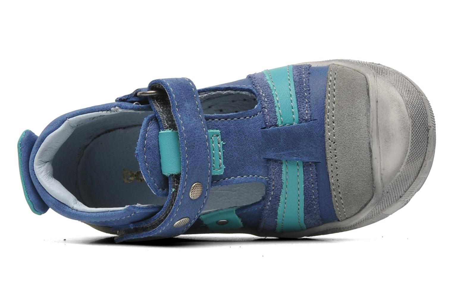Velcro shoes Babybotte SAWY Blue view from the left