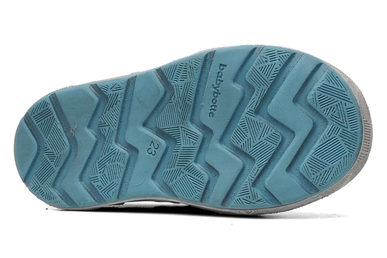 Chaussures à scratch Babybotte SAWY Bleu vue haut