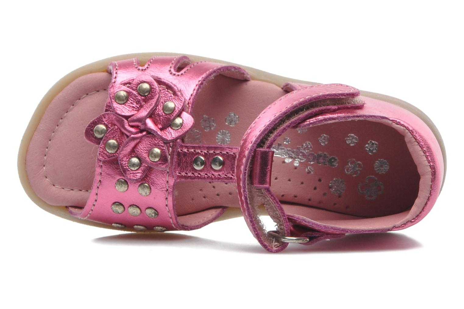 Sandals Babybotte TAHIS Pink view from the left