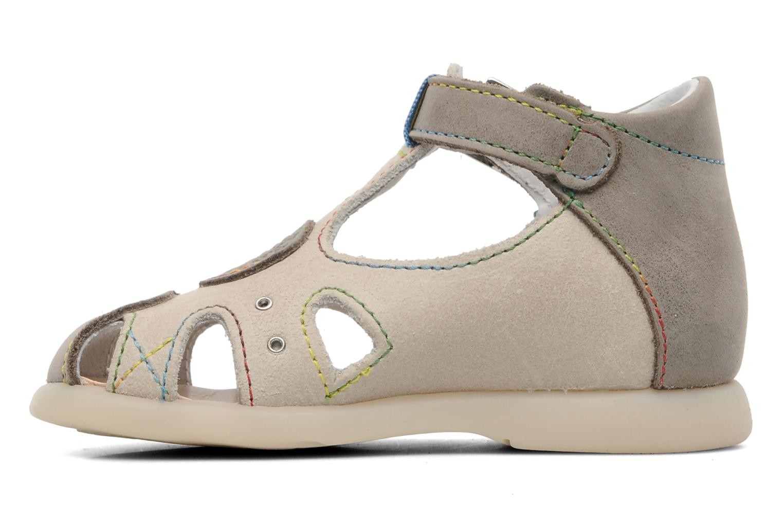 Sandales et nu-pieds Little Mary PABLO Gris vue face