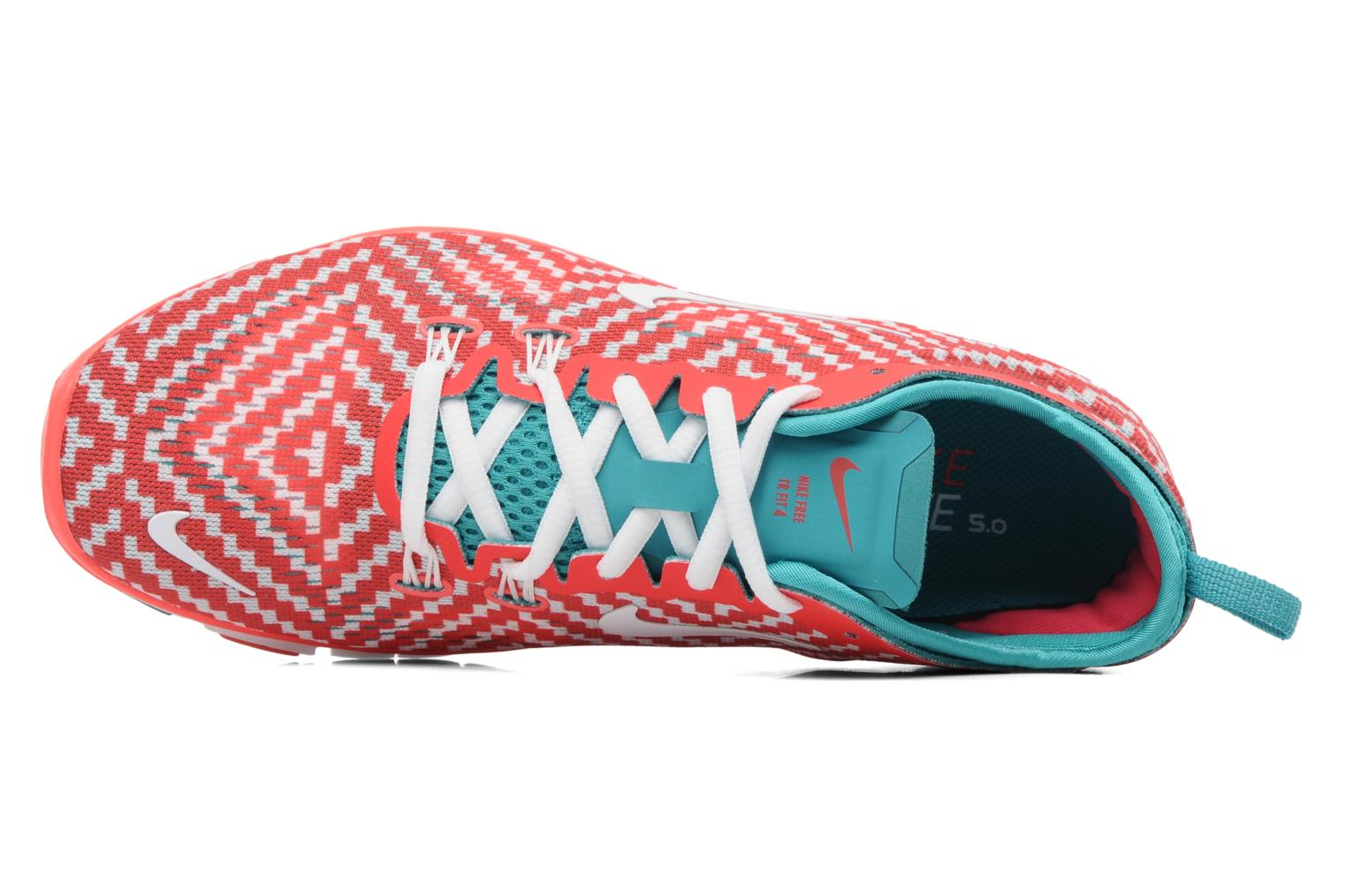 Sport shoes Nike Wmn Nike Free 5.0 Tr Fit 4 Prt Red view from the left