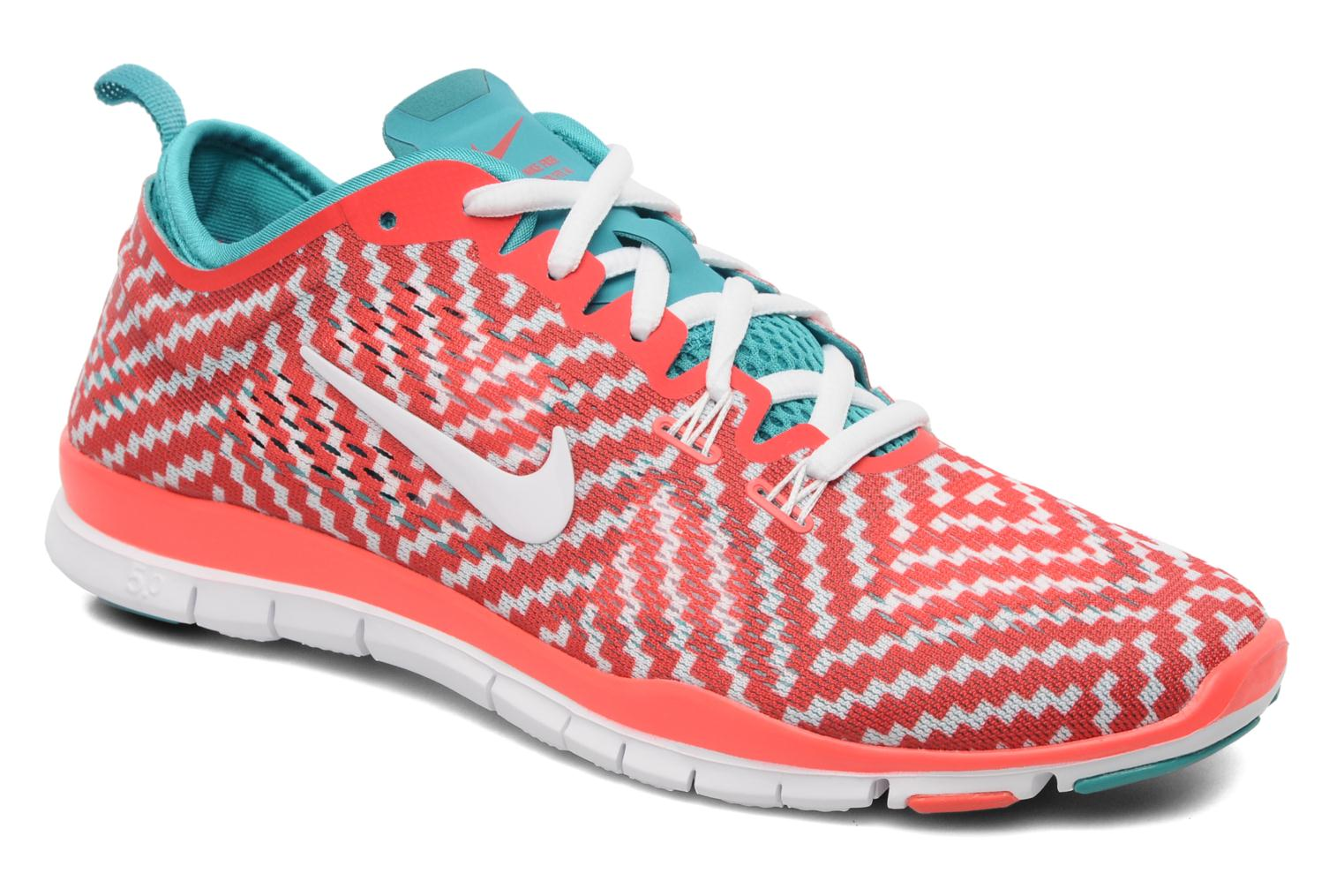 Sport shoes Nike Wmn Nike Free 5.0 Tr Fit 4 Prt Red detailed view/ Pair view