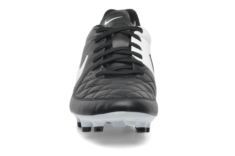Sportschuhe Nike Tiempo Genio Leather Fg schwarz schuhe getragen