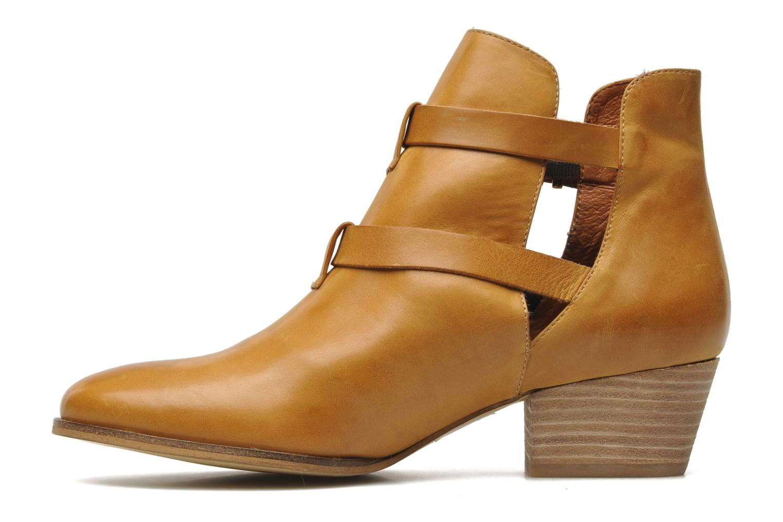 Ankle boots Georgia Rose Tatane Brown front view