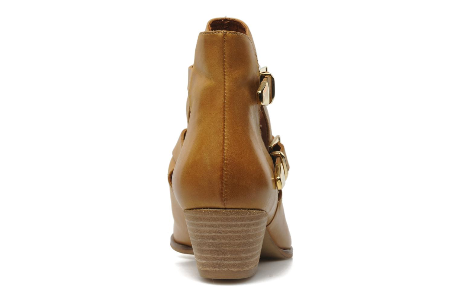 Ankle boots Georgia Rose Tatane Brown view from the right