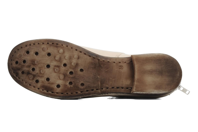 Bottines et boots Khrio Bala Beige vue haut