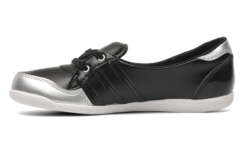 Ballerinas Adidas Originals Forum Slipper K schwarz ansicht von vorne